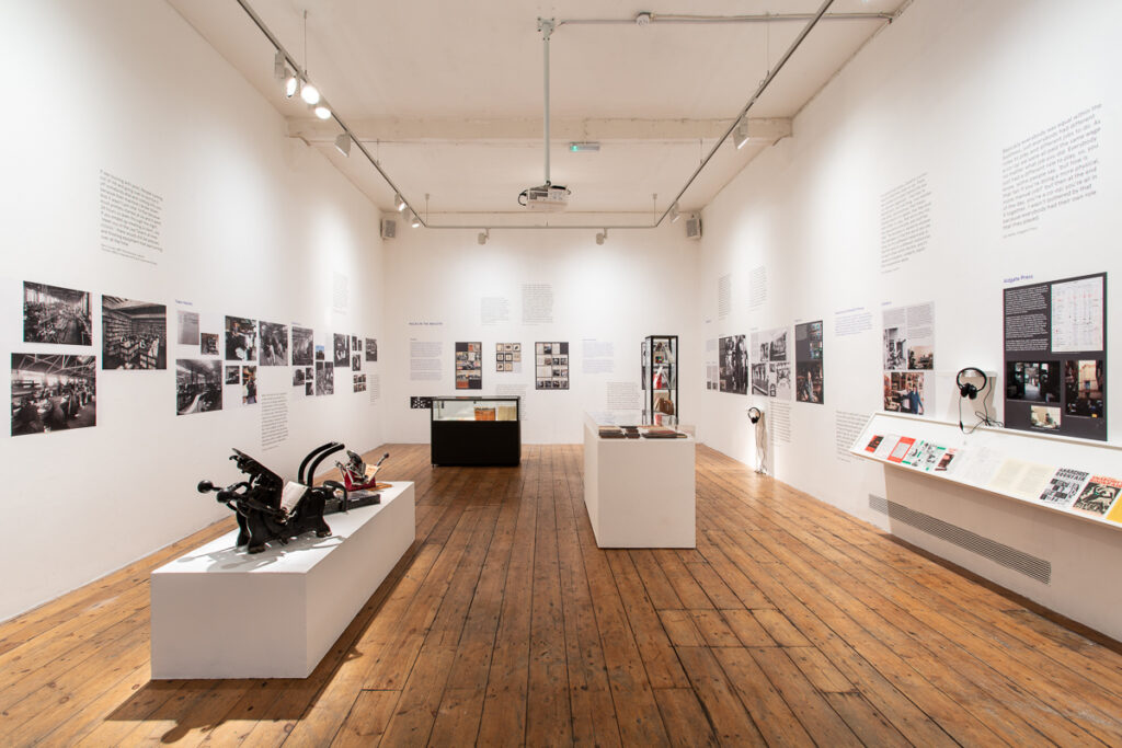 Photo showing the interior of the exhibition space