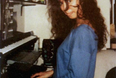 Charissa in home studio 1989
