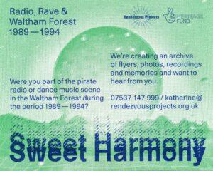 Sweet Harmony riso printed flyer