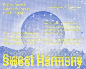 Sweet Harmony riso printed flyer
