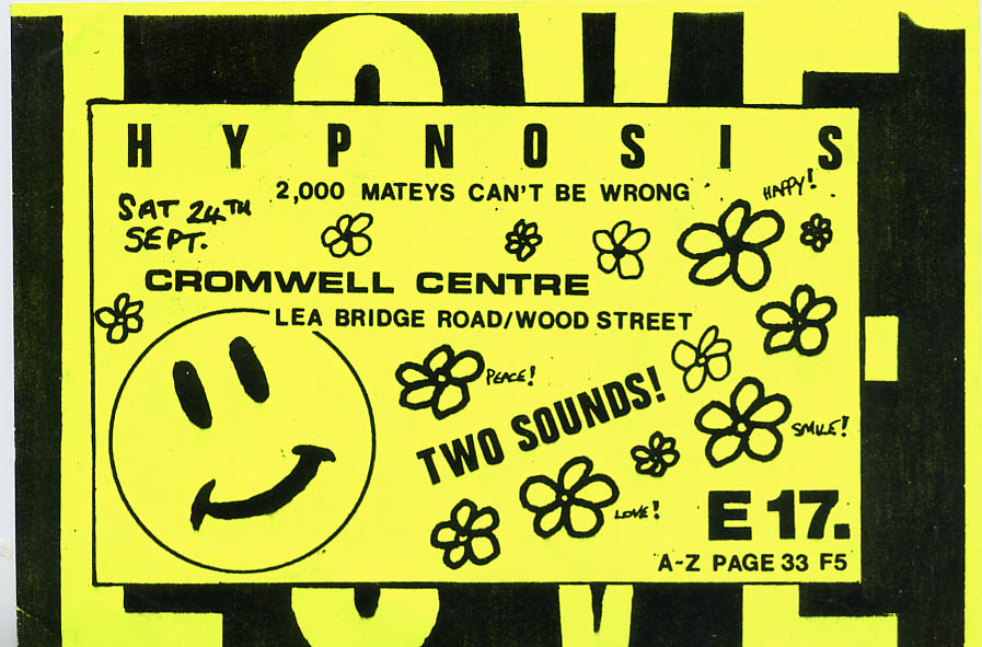 Flyer for a party by Hypnosis