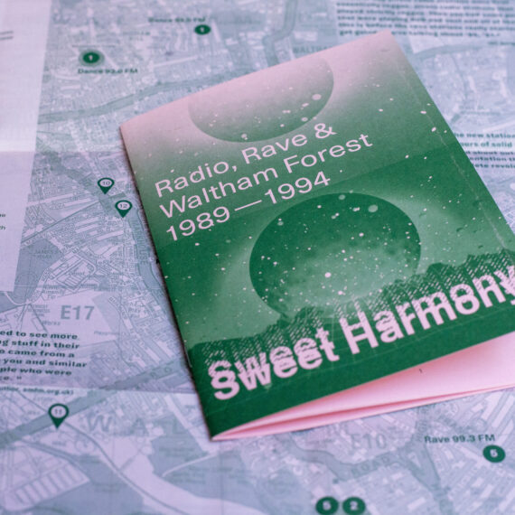 Sweet Harmony publication showing map in the background map