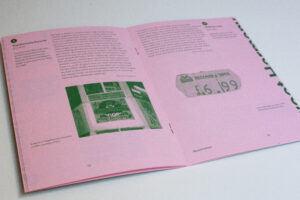 Spread from the Sweet Harmony publication