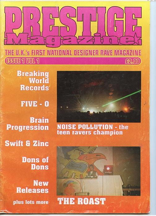 Front cover of Prestige Magazine, 1994