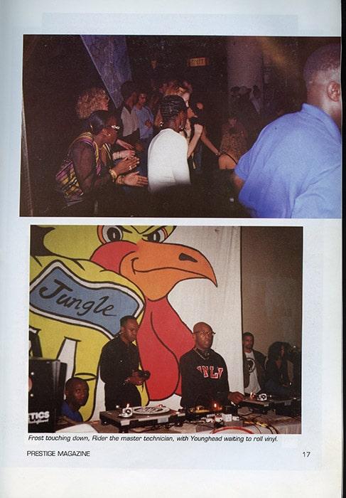 Spread of Prestige Magazine, 1994