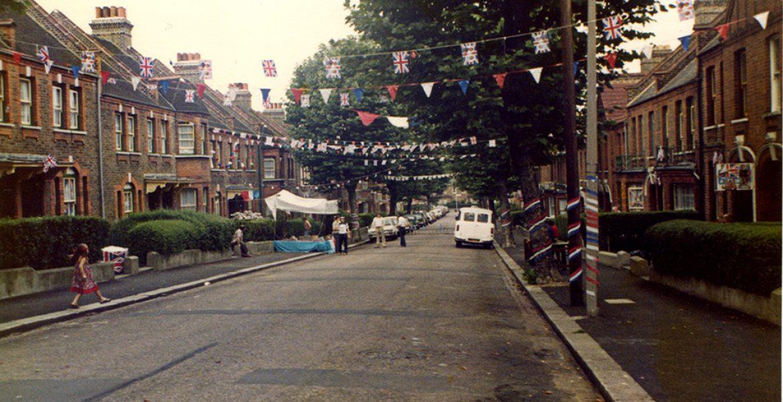 1970s street party scene